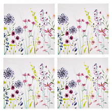 Buy John Lewis Leckford Print Napkins, Set of 4 Online at johnlewis.com