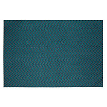 Buy John Lewis Zig Zag Placemats, Set of 2, Turquoise Online at johnlewis.com