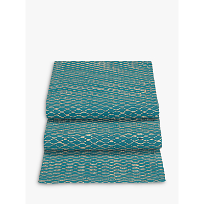 John Lewis & Partners Fusion Asian East Table Runner, Teal