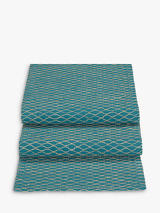 Buy John Lewis & Partners Fusion Asian East Table Runner, Teal, L200cm Online at johnlewis.com