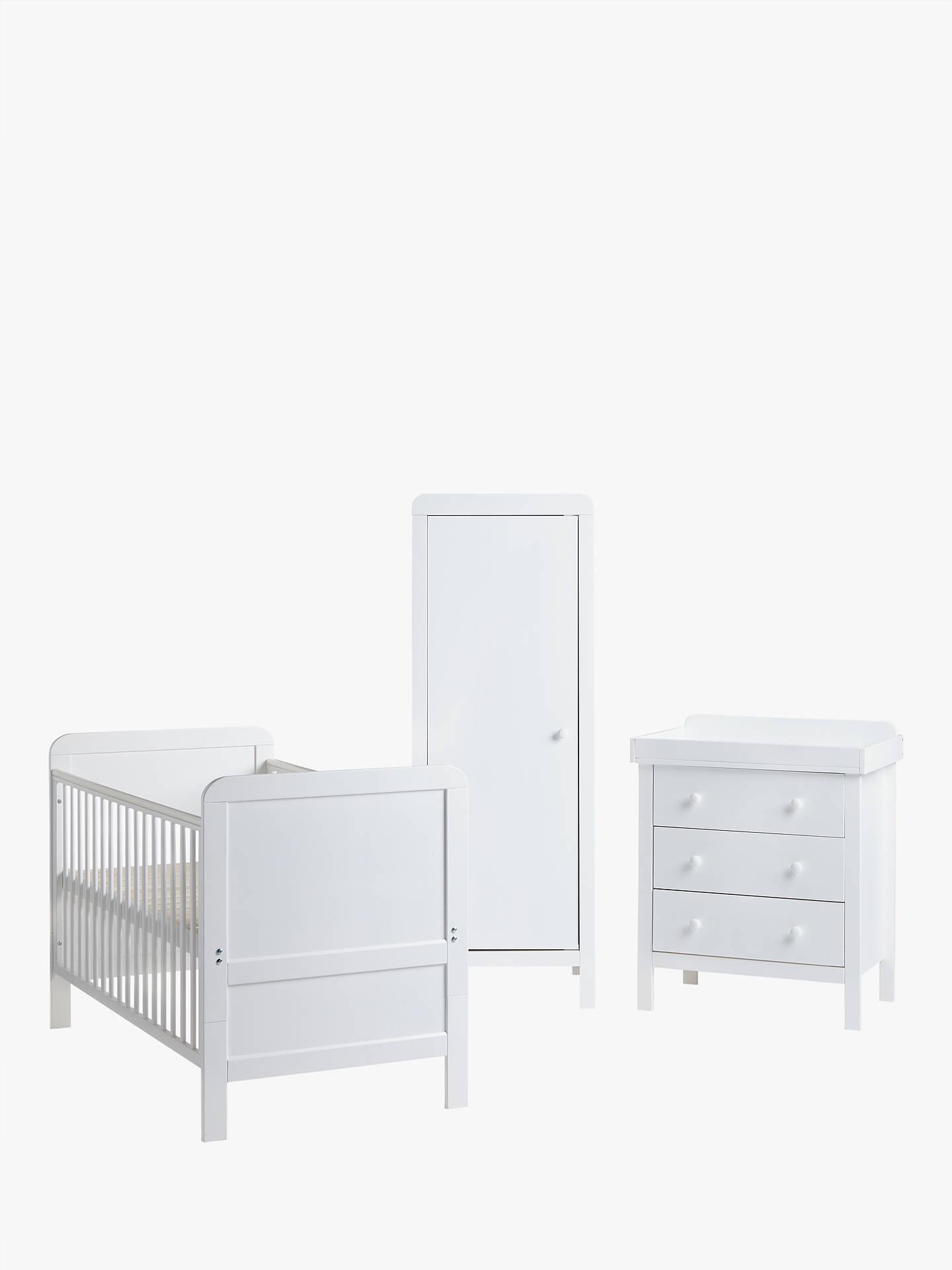 John Lewis Alex Nursery Furniture Set White