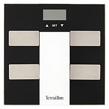 Buy Terraillon Black Bathroom Analyser Scale Online at johnlewis.com