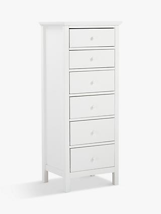 John Lewis Partners Wilton 6 Drawer Tallboy Chest