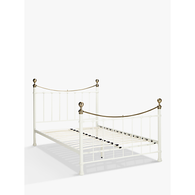 John Lewis Jayne Brass Metal Bed Frame, King Size