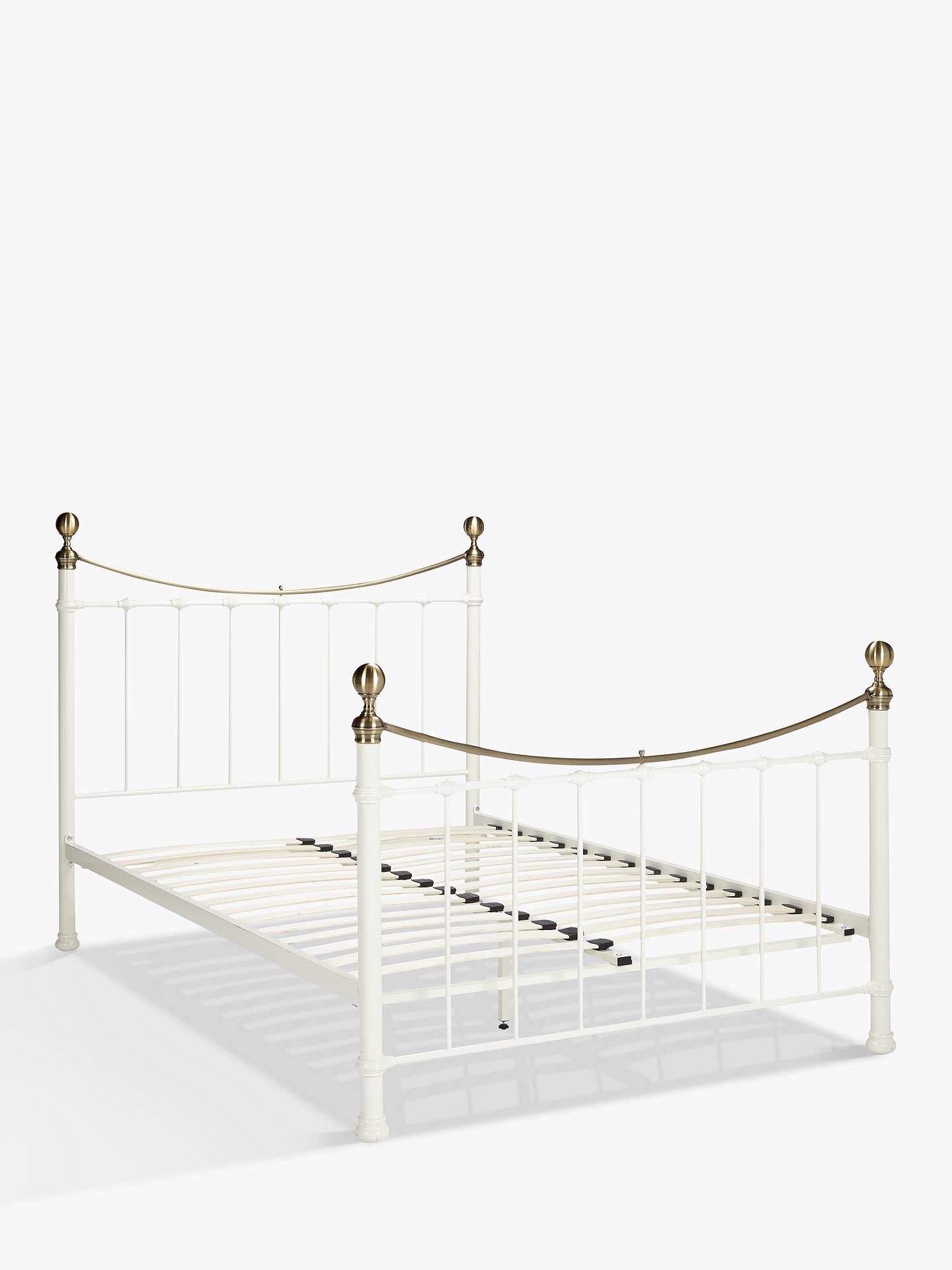 John Lewis & Partners Jayne Brass Metal Bed Frame, King Size, White ...
