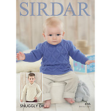 Buy Sirdar Snuggly DK Baby and Child Jumper Knitting Pattern, 4705 Online at johnlewis.com