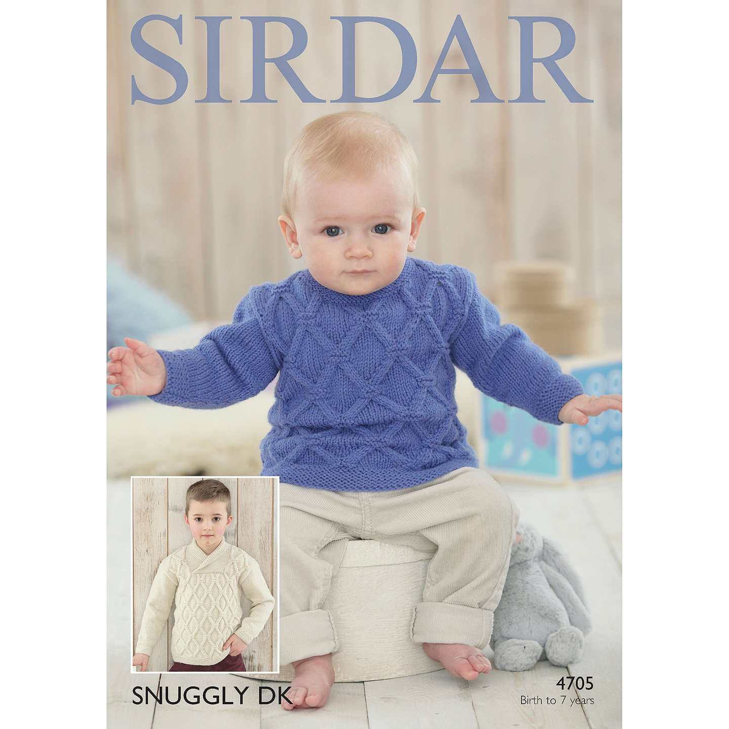 Sirdar Snuggly DK Baby and Child Jumper Knitting Pattern, 4705 at ...