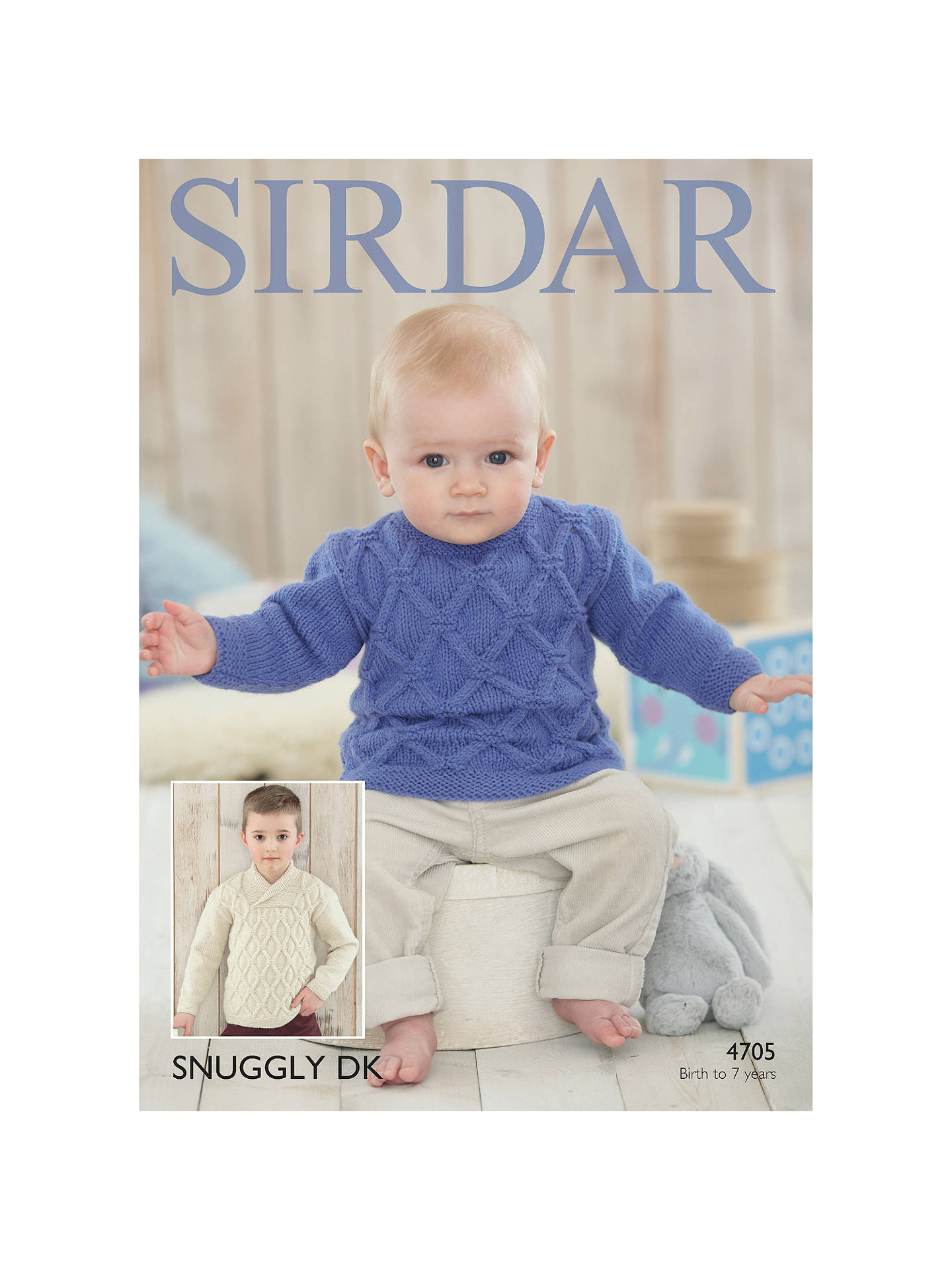 d45c3d383fa Sirdar Snuggly DK Baby and Child Jumper Knitting Pattern, 4705