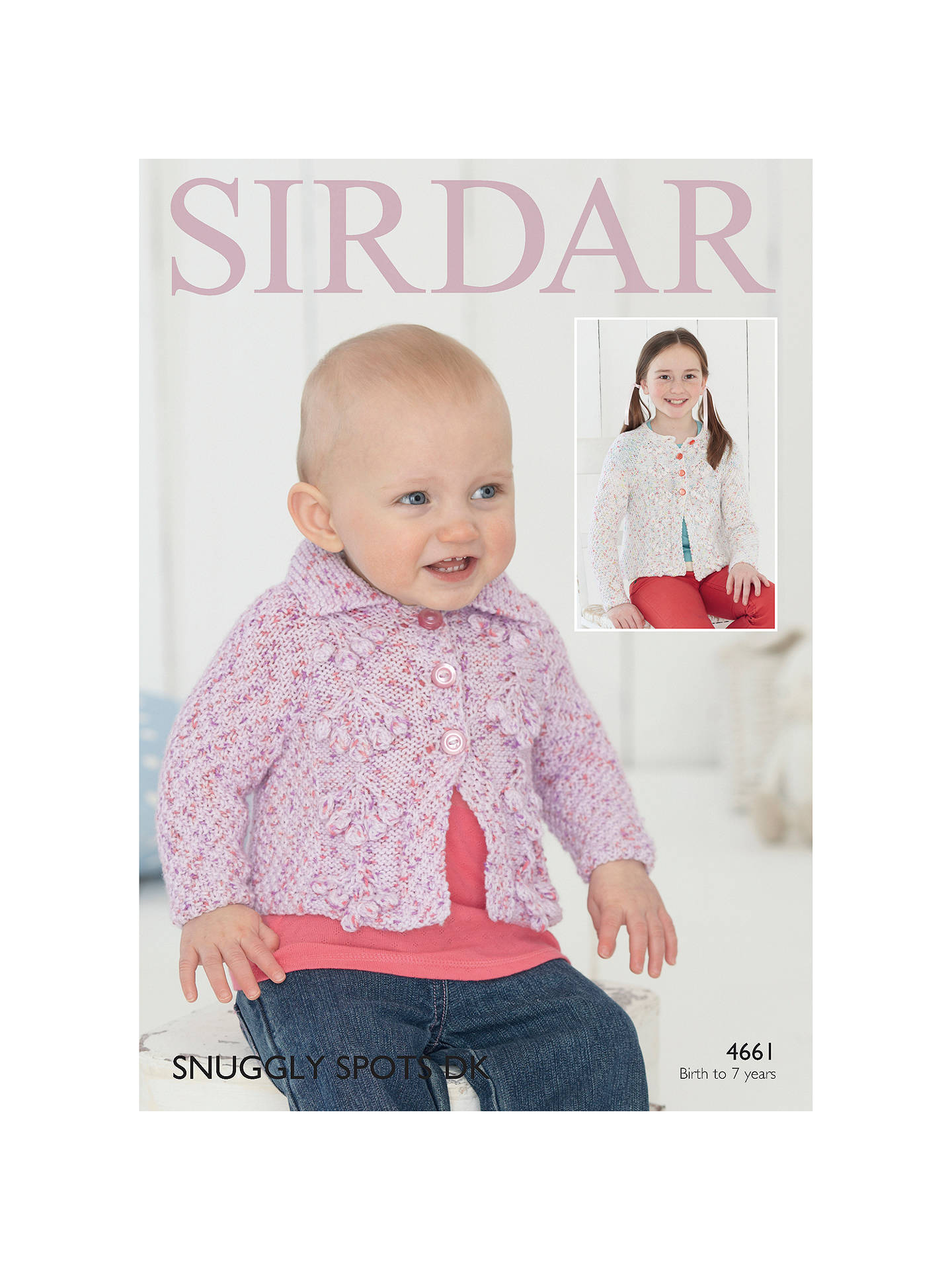 Buy Sirdar Snuggly Spots DK Baby Cardigan Knitting Paper Pattern, 4661 Online at johnlewis.com