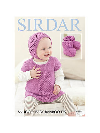 Buy Sirdar Snuggly Baby Bamboo DK Hat and Top Knitting Paper Pattern, 4669 Online at johnlewis.com