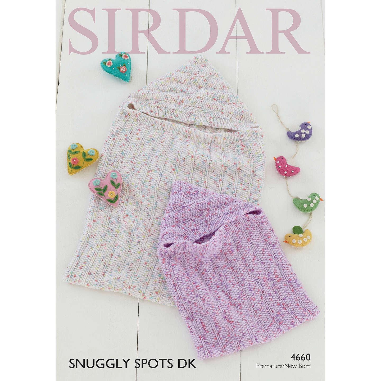 Sirdar Snuggly Spots DK Baby Sleep Bag Knitting Paper Pattern, 4660 ...