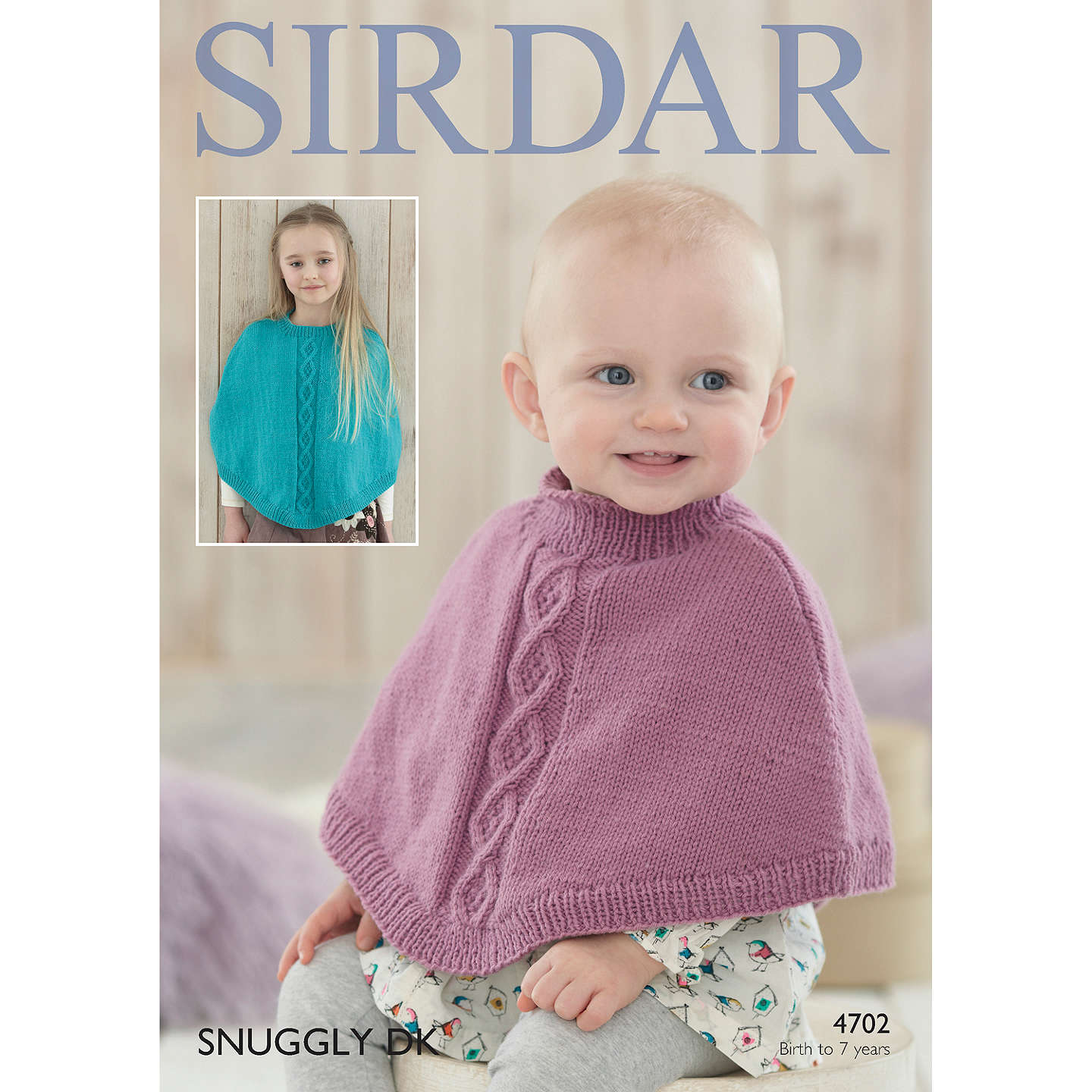 Sirdar Snuggly DK Children\'s Poncho Knitting Paper Pattern, 4702 at ...