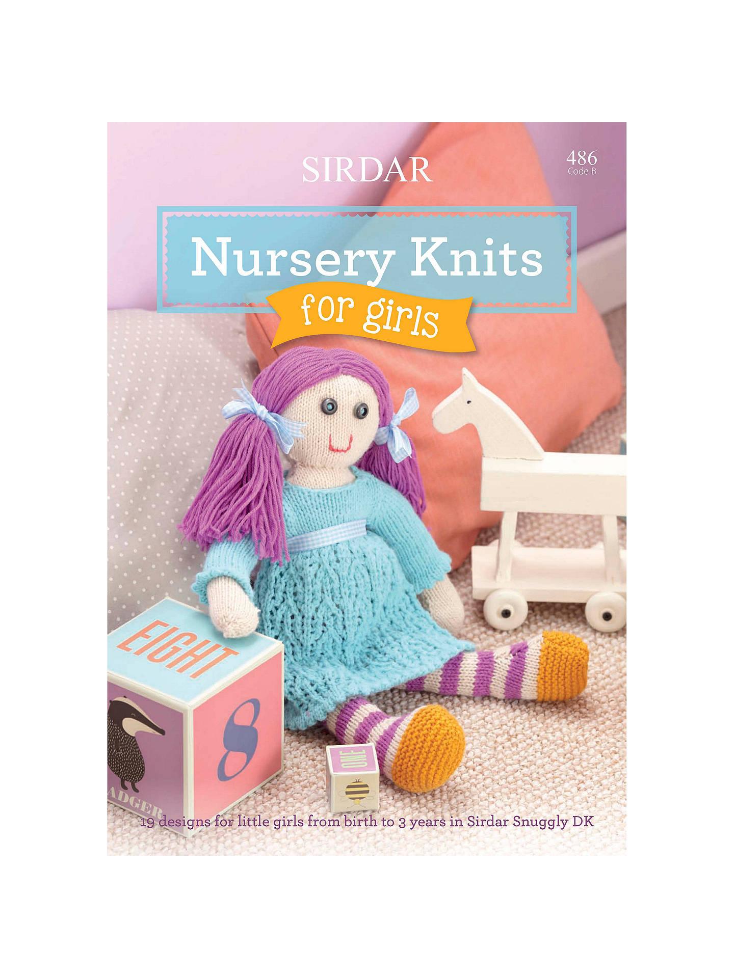 Sirdar Nursery Knits For Girls Knitting Pattern Booklet 0486 At