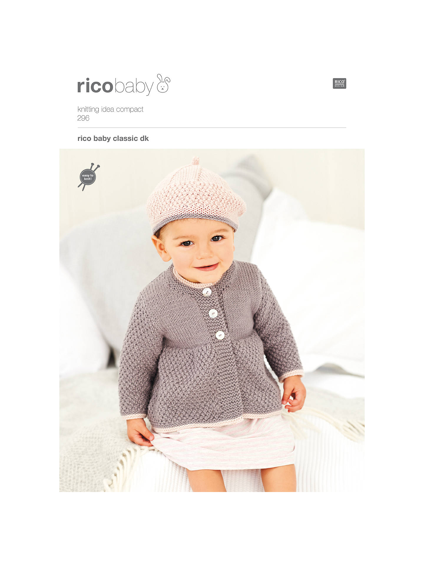841a19d7c643 Buy Rico Baby Classic DK Beret and Coat Knitting Pattern