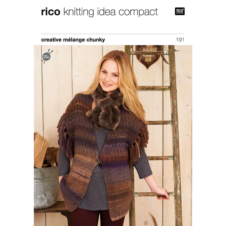 Rico Creative Melange Chunky Women\'s Waistcoat Knitting Pattern, 191 ...
