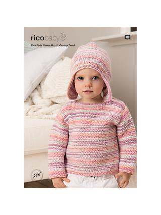 2844199db8288 Rico Baby Dream A Luxury Touch DK Jumper and Hat Knitting Pattern