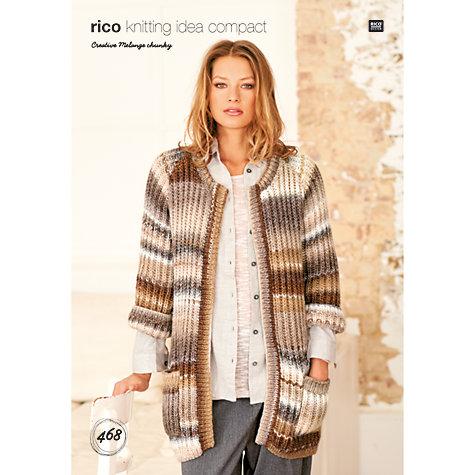 Buy Rico Creative Melange Chunky Women\'s Cardigan Knitting Pattern ...