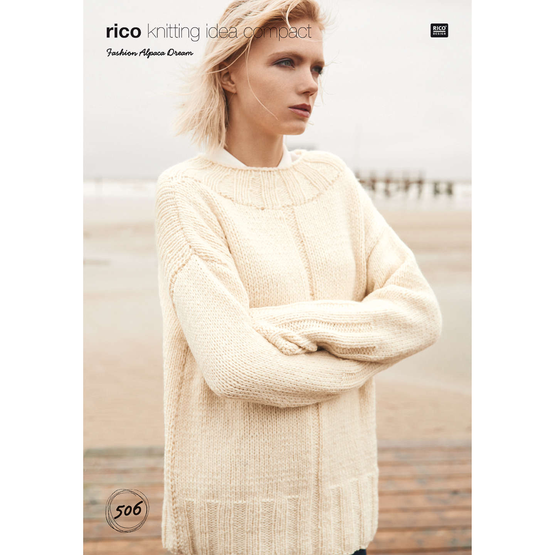 Rico Fashion Alpaca Dream Women\'s Jumper Knitting Pattern, 506 at ...