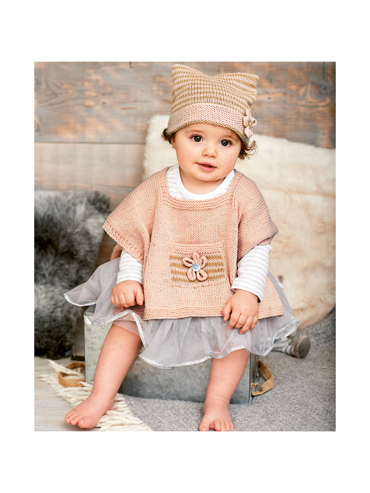 d73b81943 Rico Baby Classic DK Baby Poncho and Hat Knitting Pattern