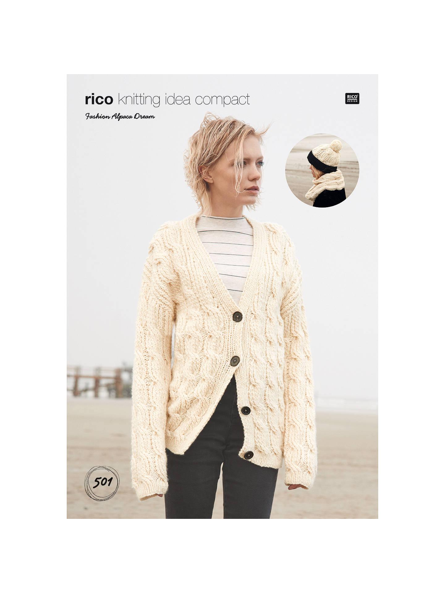 1455f38d0 Rico Fashion Alpaca Dream Women s Hat and Jumper Knitting Pattern ...