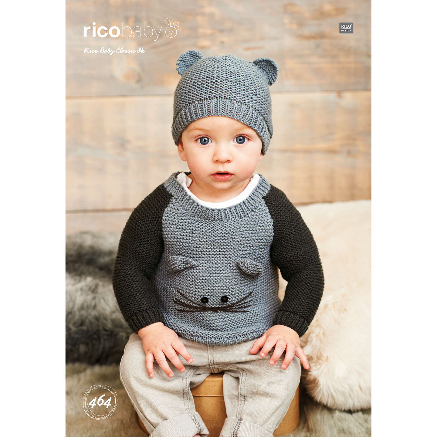 Rico Baby Classic DK Baby Jumper and Hat Knitting Pattern, 464 at ...