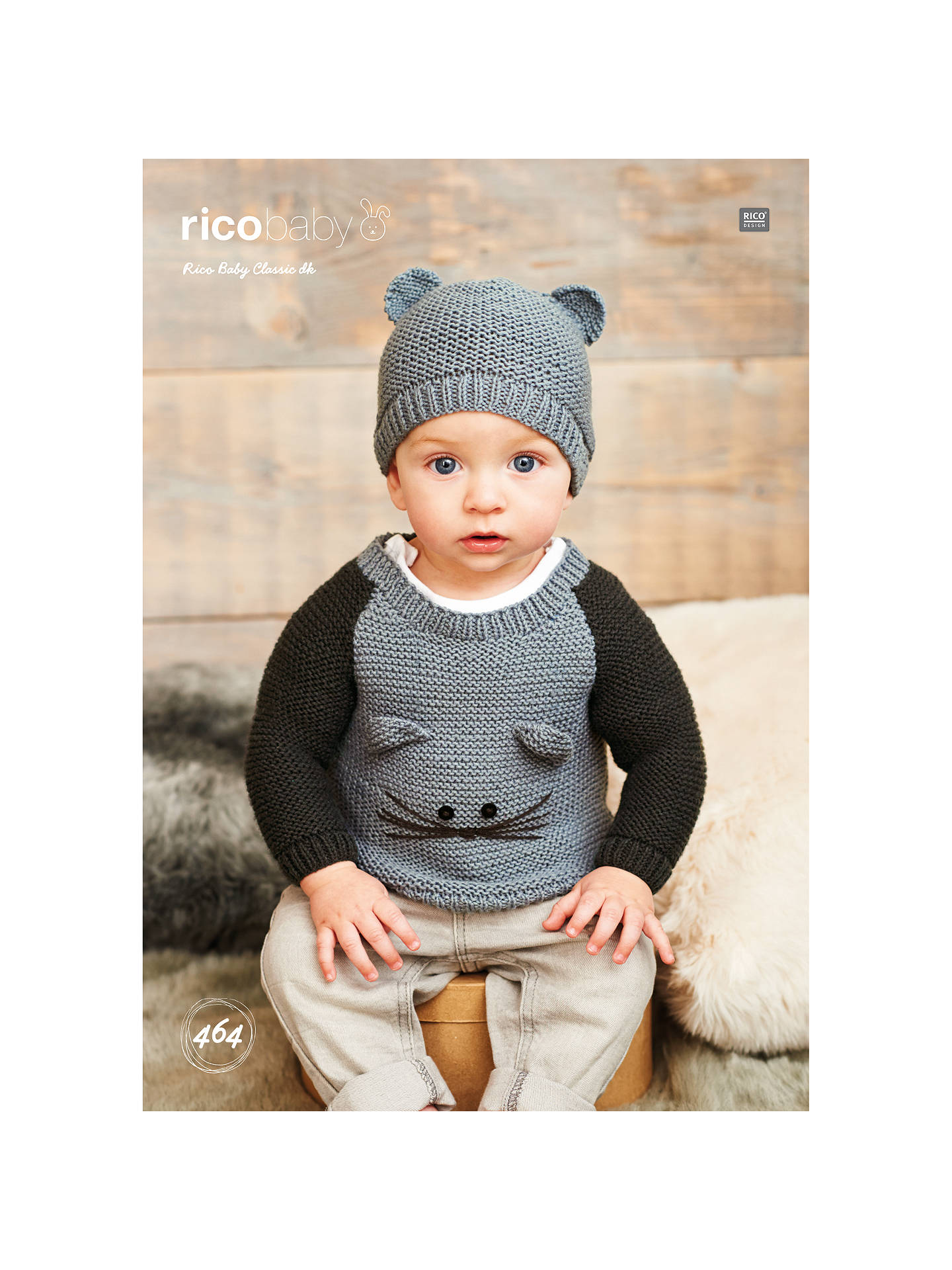 73316ebb3ce Rico Baby Classic DK Baby Jumper and Hat Knitting Pattern, 464