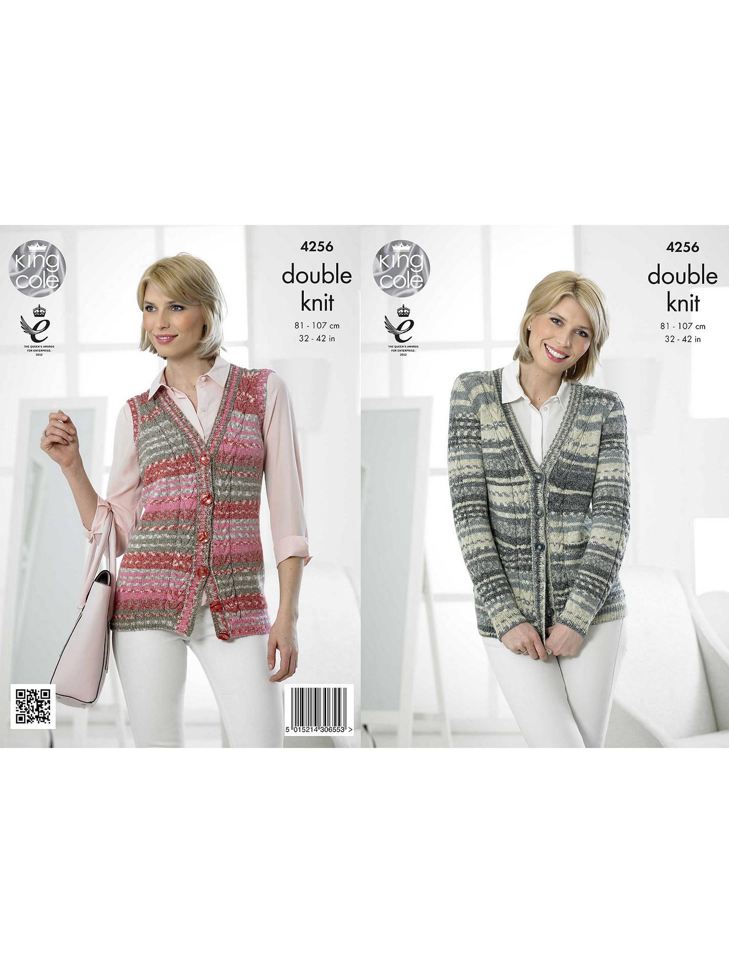 81f5ae9e1 King Cole Drifter DK Women s Cardigan and Waistcoat Knitting Pattern ...