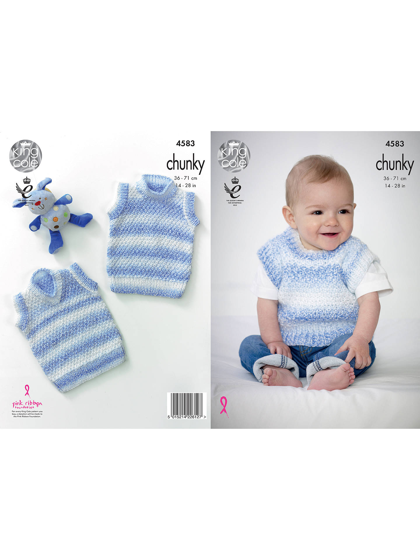 BuyKing Cole Comfort Chunky Baby Waistcoat Knitting Pattern, 4583 Online at johnlewis.com