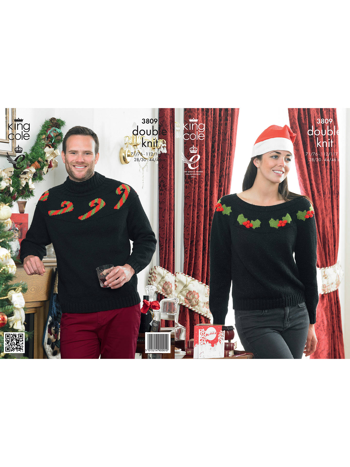 BuyKing Cole Big Value DK Men's and Women's Christmas Jumper Knitting Pattern, 3809 Online at johnlewis.com