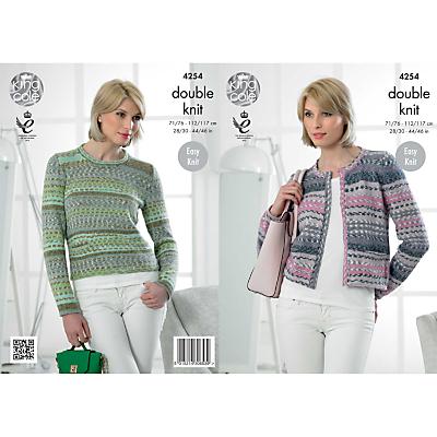 King Cole Drifter DK Women's Jumper and Cardigan Knitting Pattern, 4254