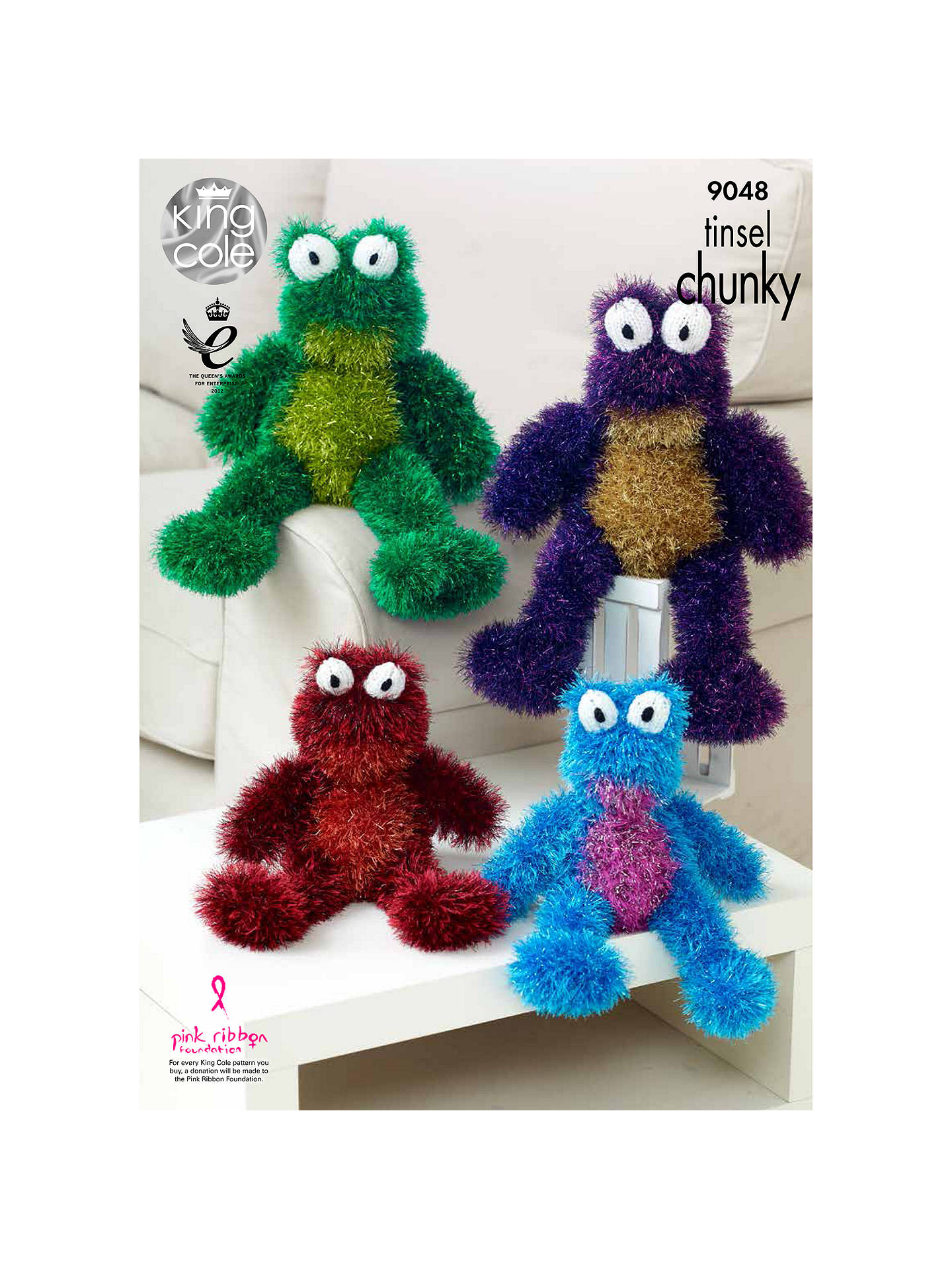 BuyKing Cole Tinsel Chunky Frog Toy Knitting Pattern, 9048 Online at johnlewis.com