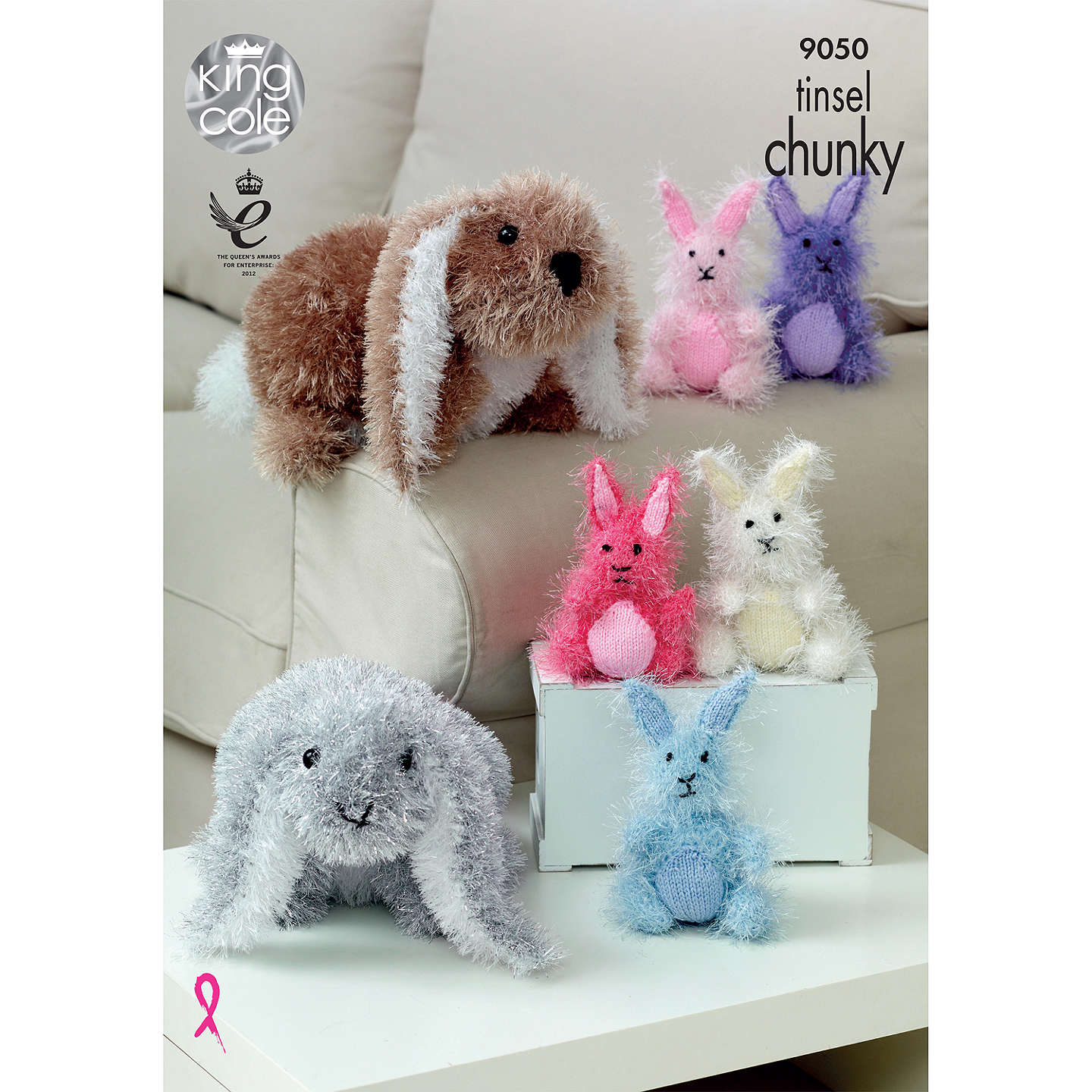 BuyKing Cole Tinsel Chunky Rabbit Plush Knitting Pattern, 9050 Online at johnlewis.com