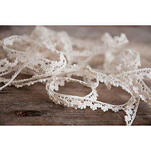 Buy La Stephanoise Cotton Lace Trimming, 10mm, Cream Online at johnlewis.com