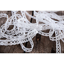 Buy La Stephanoise Cotton Lace Trimming, 10mm, White Online at johnlewis.com