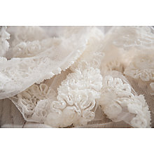 Buy La Stephanoise Ribbed Flower Sewn on Tulle Trimming, 25mm, Ecru Online at johnlewis.com