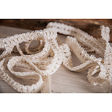 Buy La Stephanoise Underwear Lace Elastic, 15mm, Cream Online at johnlewis.com