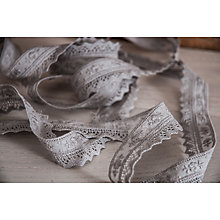 Buy La Stephanoise Embroidered Lace Trimming, 28mm, Grey Online at johnlewis.com