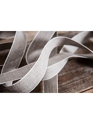 La Stephanoise Linen Ribbon Trimming, 10mm, Neutral