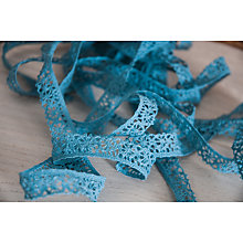 Buy La Stephanoise Lace Trimming, 14mm, Blue Online at johnlewis.com