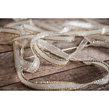 Buy La Stephanoise Iron On Rhinestone Trim, 25mm, Neutral/Gold Online at johnlewis.com