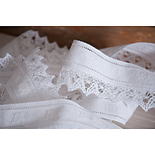 Buy La Stephanoise Embroidered Floral Lace Trimming, 55mm Online at johnlewis.com