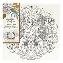 Buy Johanna Basford Lost Ocean Seahorse Colouring Canvas Online at johnlewis.com