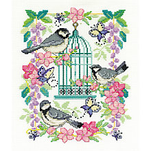 Buy DMC Creative Oriental Bird Cross Stitch Kit Online at johnlewis.com