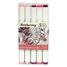 Buy Johanna Basford Secret Garden Colouring Marker Pens, Pack of 5, Floral Online at johnlewis.com