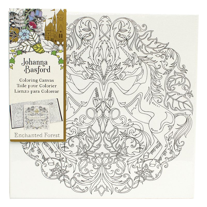 Johanna Basford Enchanted Forest Unicorn Colouring Canvas At John Lewis