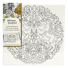 Buy Johanna Basford Enchanted Forest Unicorn Colouring Canvas Online at johnlewis.com