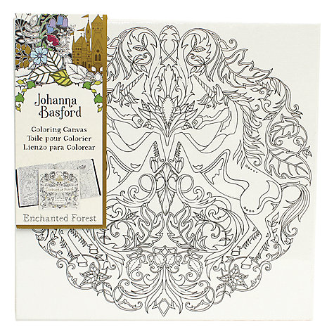 Buy Johanna Basford Enchanted Forest Unicorn Colouring Canvas