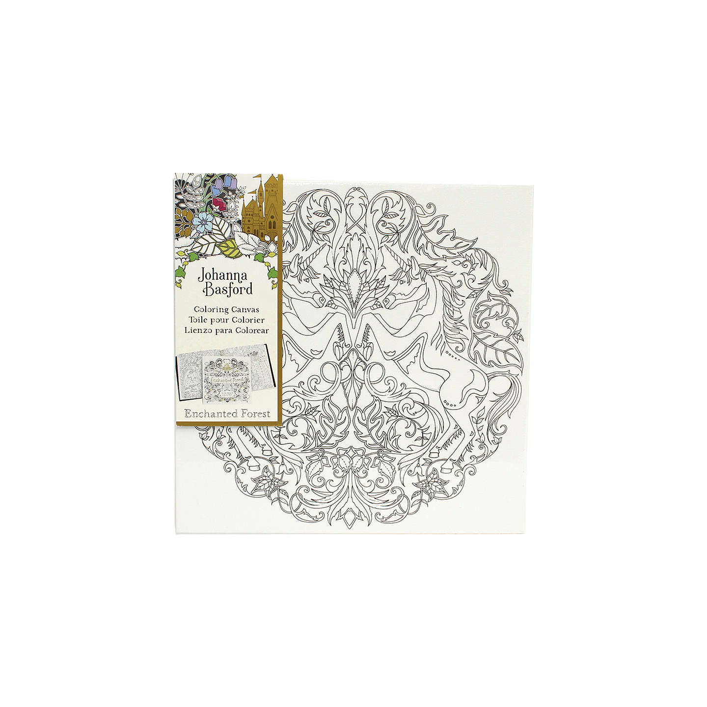 BuyJohanna Basford Enchanted Forest Unicorn Colouring Canvas Online At Johnlewis