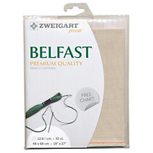 Buy Zweigart Belfast Linen 32ct Embroidery Fabric Online at johnlewis.com