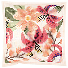 Buy Rico Flower Felt Cross Stitch Cushion Kit Online at johnlewis.com